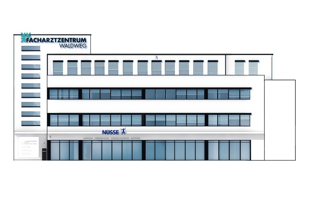 Vorderansicht zur Planung der Fassadengestaltung