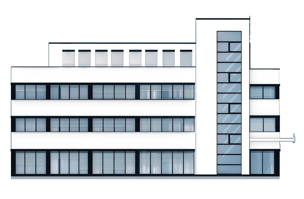 Seitenansicht zur Planung der Fassadengestaltung